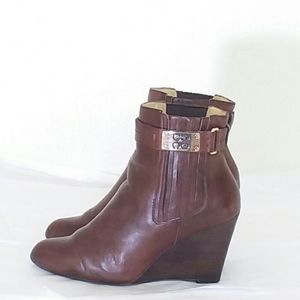 Coach Letty Brown Leather  Wedges